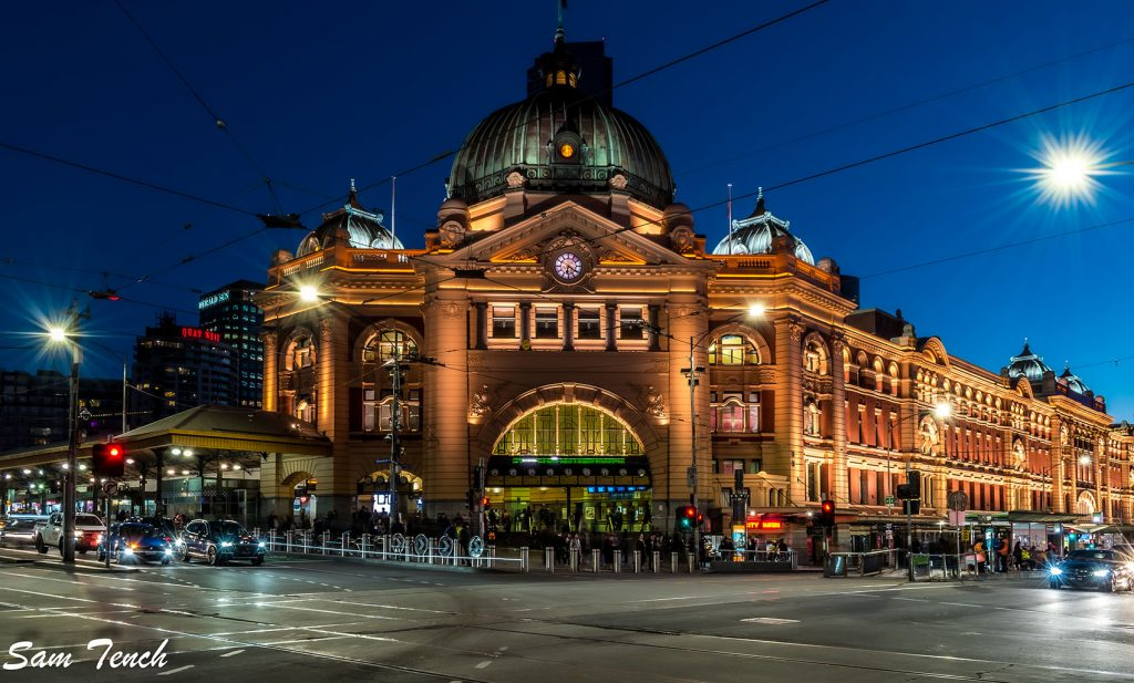 Flinders Street Station photo by Sam Tench